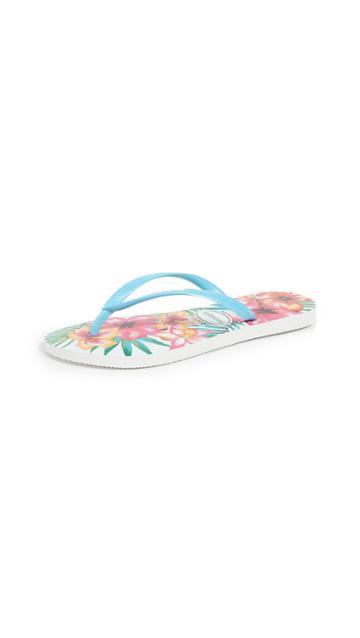 Havaianas Slim Hibisco Flip Flops
