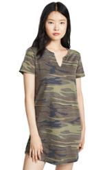 Z Supply Split Neck Camo Dress