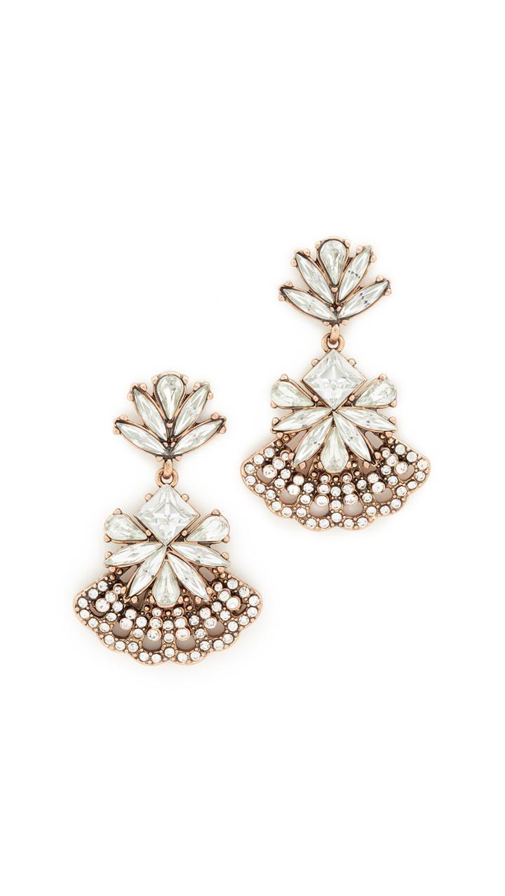 Stella Ruby Statement Crystal Fan Out Earrings