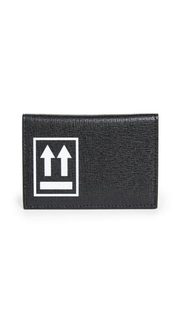 Off White Black Card Holder