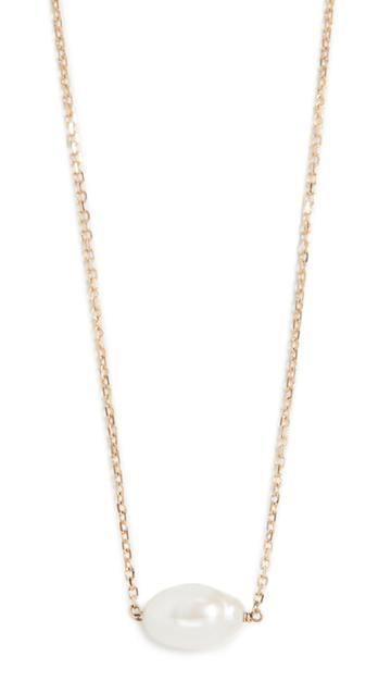 Wwake 14k Irregular Pearl Necklace