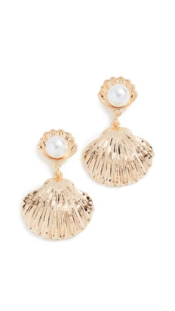 Reliquia Seashell Pearl Earrings