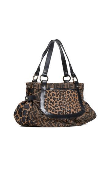 What Goes Around Comes Around Fendi Leopard Zucca Shoulder Bag