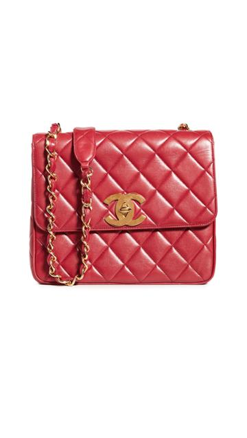 What Goes Around Comes Around Chanel Red Big Cc Square Bag