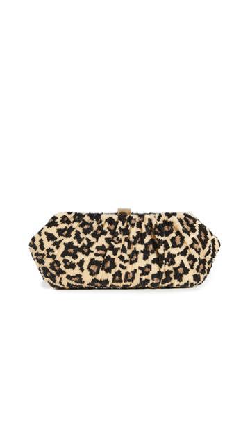 Santi Leopard Clutch