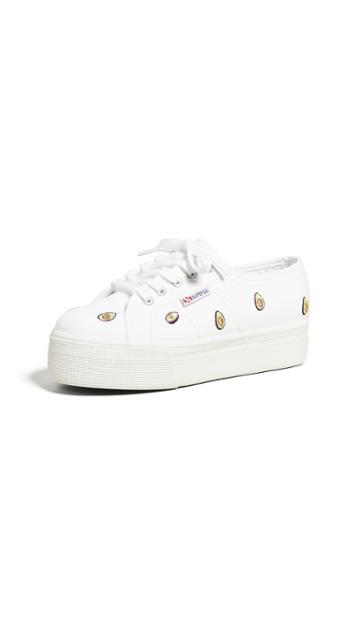 Superga 2750 Avocado Cotw Platform Sneakers