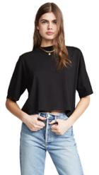 Three Dots Mock Neck Crop Top