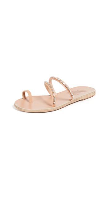 Ancient Greek Sandals Apli Katia Diamonds Slides