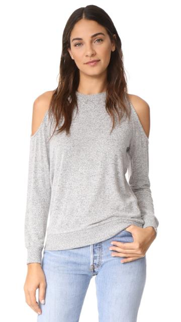 Z Supply The Marled Cold Shoulder Sweatshirt