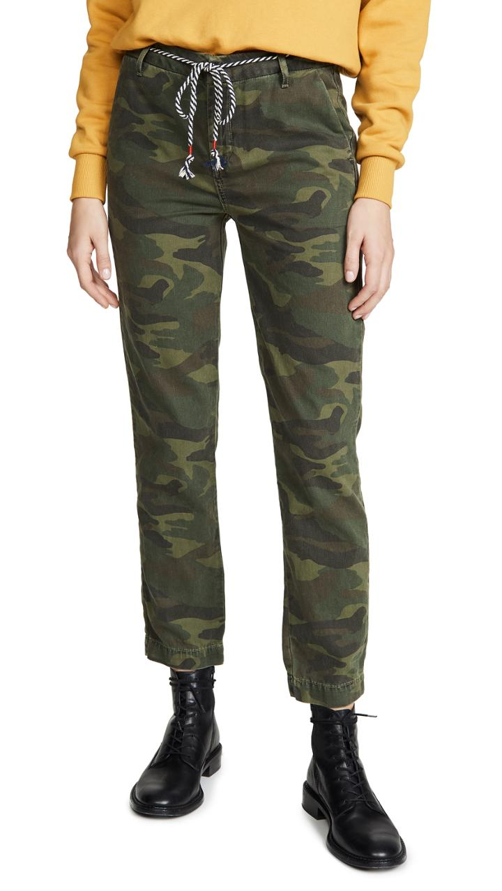 Sundry Camo Clean Straight Trousers