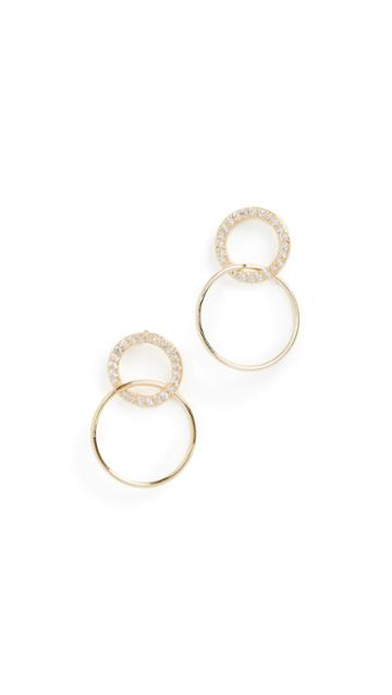 Gorjana Balboa Shimmer Interlocking Stud Earrings
