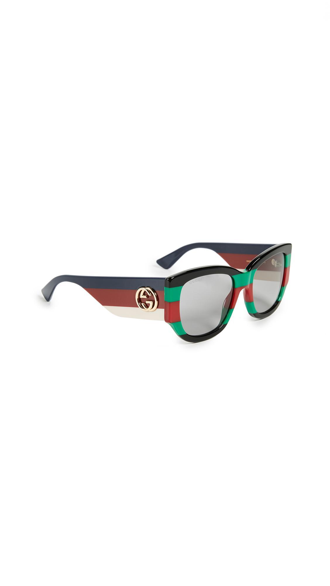 24ac413cfd Gucci Sylvie Bold Cat Eye Sunglasses