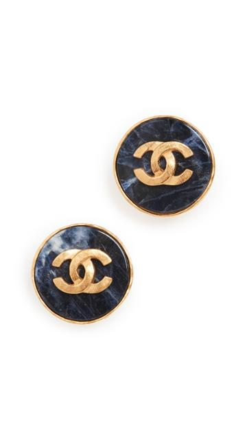 What Goes Around Comes Around Chanel Round Earrings