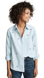 The Great The Oversized Swing Button Down
