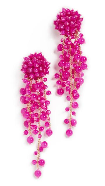 Oscar De La Renta Beaded C Earrings