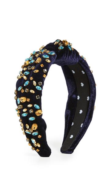 Lele Sadoughi Mixed Shape Crystal Knotted Headband
