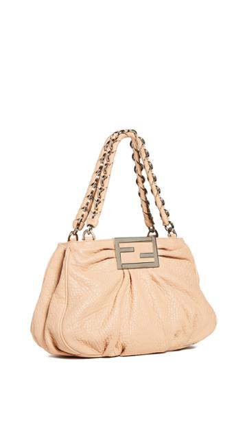 What Goes Around Comes Around Fendi Beige Mia Bag