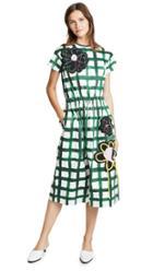 Mira Mikati Check Midi Dress