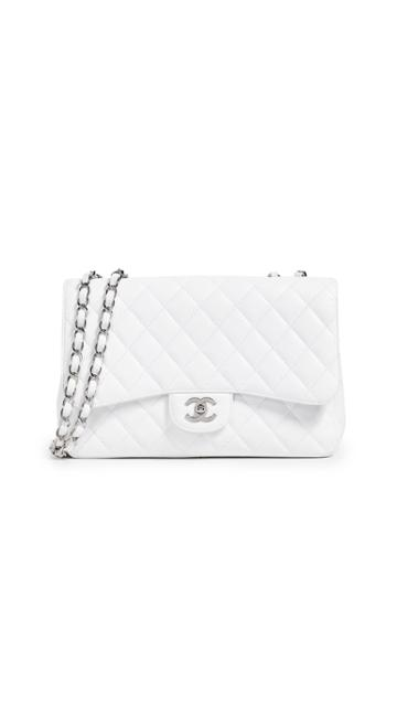 What Goes Around Comes Around Chanel Caviase Classic Jumbo Shoulder Bag