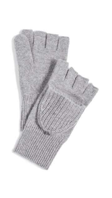 White Warren Cashmere Thermal Pop Top Gloves