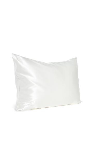 Slip White Queen Pillow Case Pink Sleep Mask