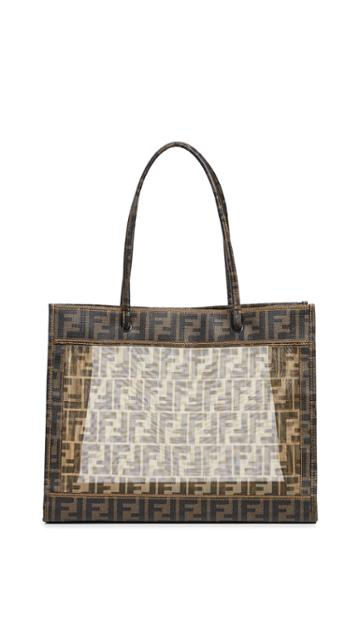 What Goes Around Comes Around Fendi Mesh Tote Shoulder Bag