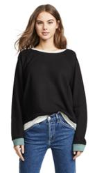 Monrow Colorblock Oversized Sweatshirt