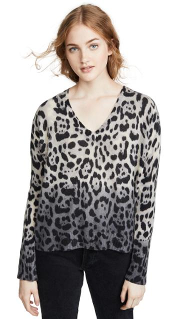 360 Sweater Lauren Leopard Cashmere Sweater
