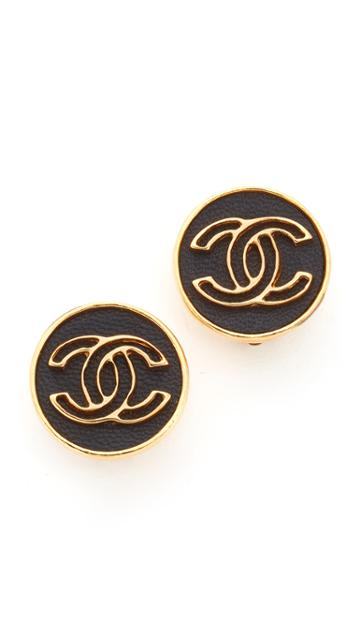 What Goes Around Comes Around Chanel Button Clip On Earrings Previously Owned