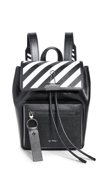 Off White Diagonal Binder Backpack