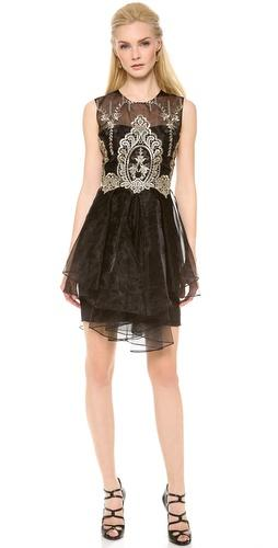 Notte By Marchesa Sleeveless Organza Cocktail Dress ...
