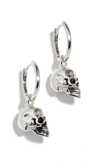 Marc Jacobs Skull Hoop Earrings