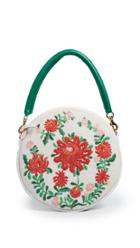 Clare V Embroidered Circle Clutch