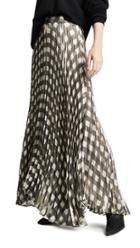 Alice Olivia Katz Pleated Maxi Skirt