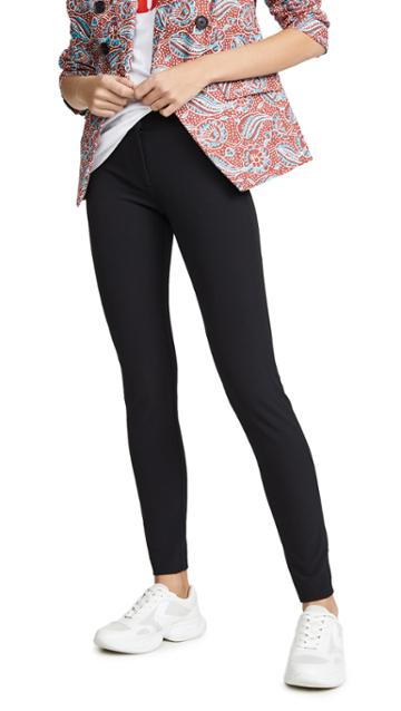 Veronica Beard Black Scuba Leggings