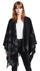 Mcq Alexander Mcqueen Swallow Poncho Scarf