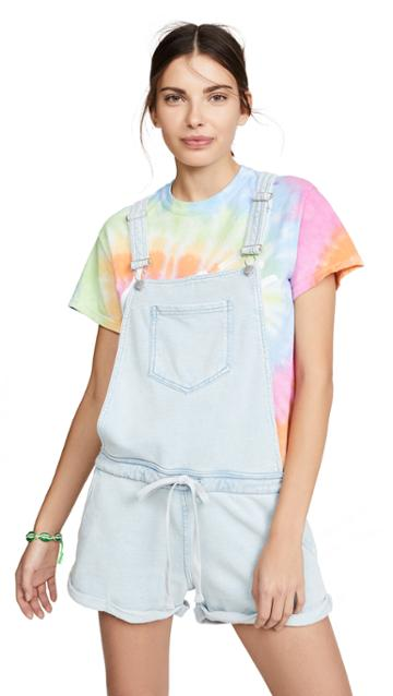Z Supply Knit Denim Shortalls