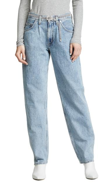 Agolde Pleated Baggy Jeans
