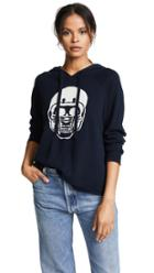 360 Sweater Cashmere Collegiate Skull Hoodie