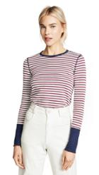 Three Dots Stripe Long Sleeve Top