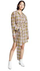 Msgm Plaid Shirt Dress