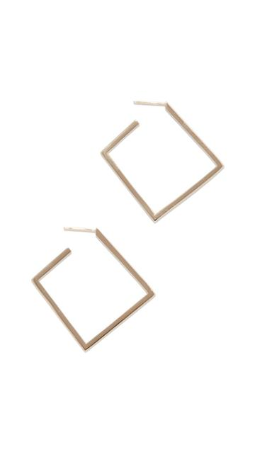 Lana Jewelry Square Flat Hoops
