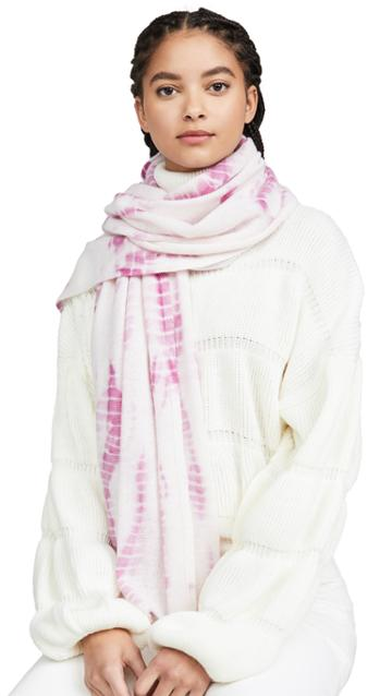 White Warren Mini Tie Dye Cashmere Travel Wrap