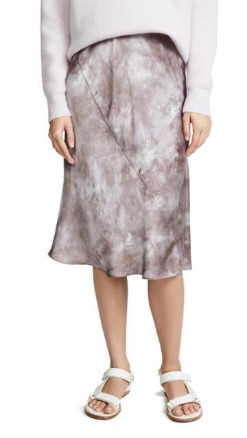 Atm Anthony Thomas Melillo Tie Dye Silk Pull On Skirt
