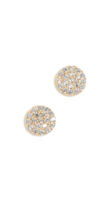 Shashi Pave Disc Earrings