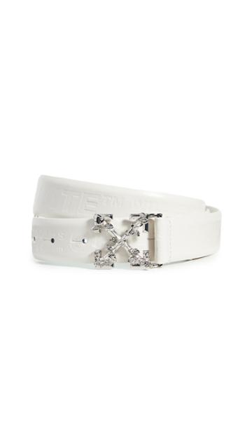 Off White Leather Industrial Belt