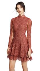 Jonathan Simkhai Guipure Lace Longsleeve Dress