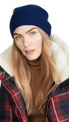 Carolina Amato Waffle Cashmere Knit Beanie Hat