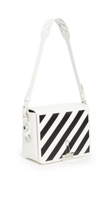 Off White Diagonal Flap Bag