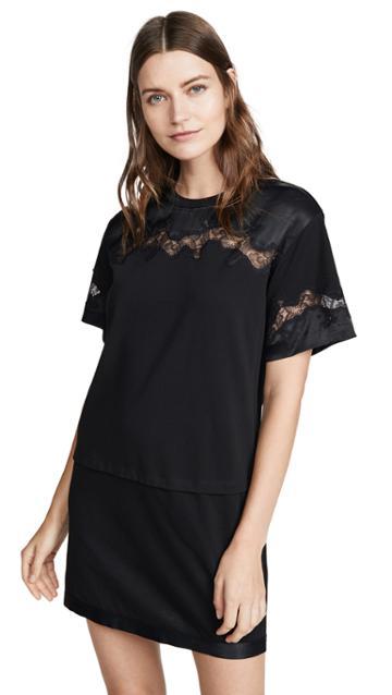 3 1 Phillip Lim Satin Lace T Shirt Dress